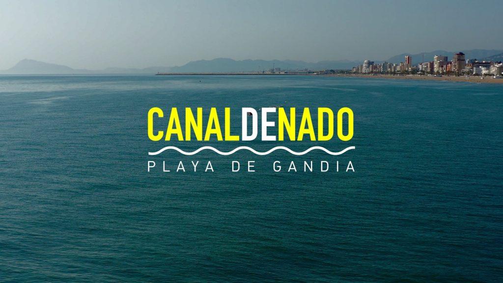 Canal de nado en mar abierto de Gandia